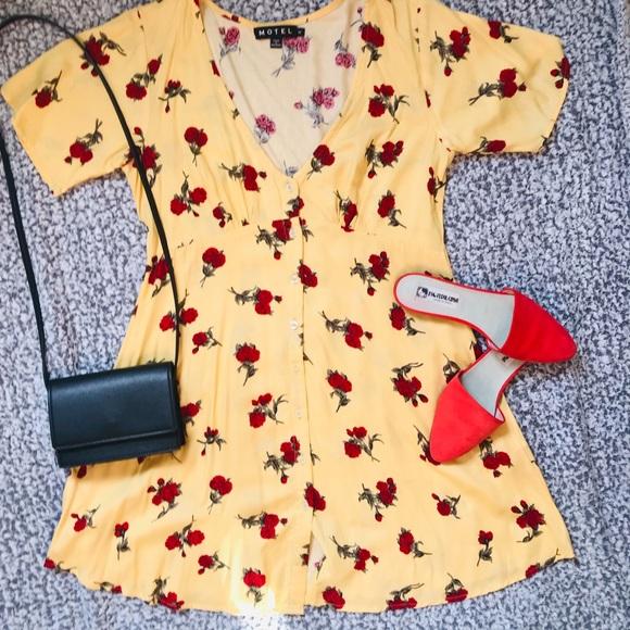 Motel Rocks Dresses & Skirts - Motel Rose Button Down Dress